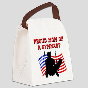 SUPER GYMNAST MOM Canvas Lunch Bag