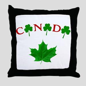 Canadian Irish Throw Pillow
