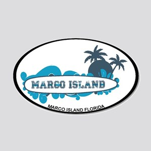 Marco Island - Surf Design. 20x12 Oval Wall Decal