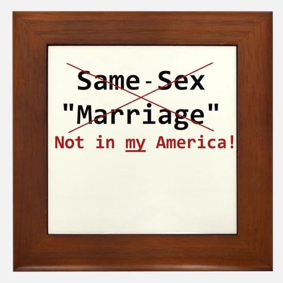 Same-Sex Marriage Framed Tile