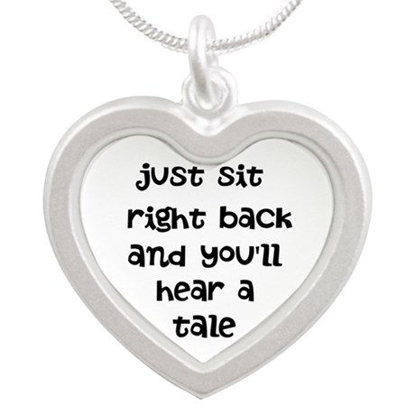Just sit right back Silver Heart Necklace