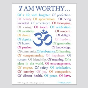 Om affirmations Posters