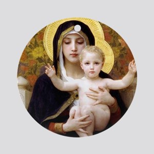 Madonna of the Lilies Ornament (Round)