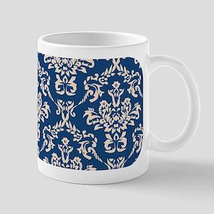 Monaco Blue & Linen Damask #4 Mug