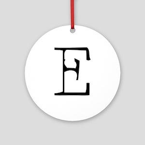 Acoustic Monogram E Ornament (Round)