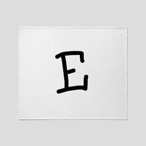 Bookworm Monogram E Throw Blanket