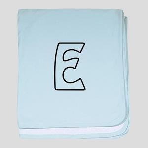 Outline Monogram E baby blanket