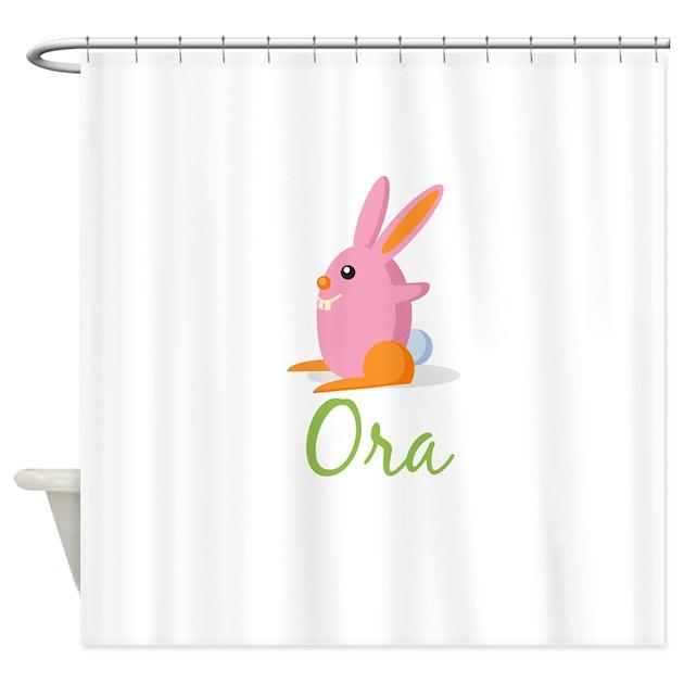 easter bunny ora shower curtain by uniquegirlsnames70