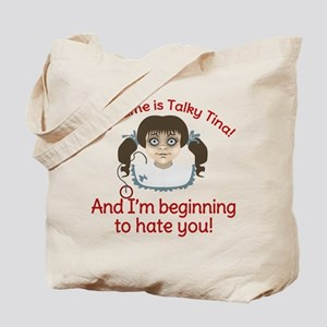 Talky Tina Twilight Zone Tote Bag