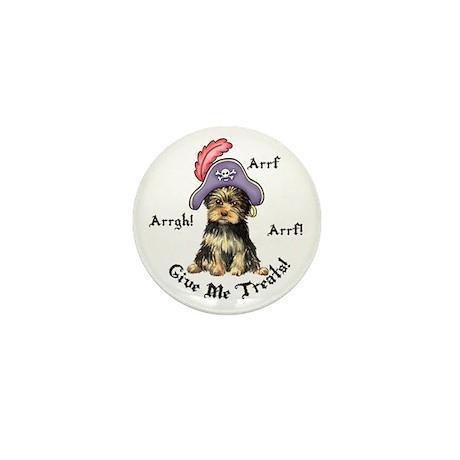 Yorkie Pirate Mini Button (10 pack)