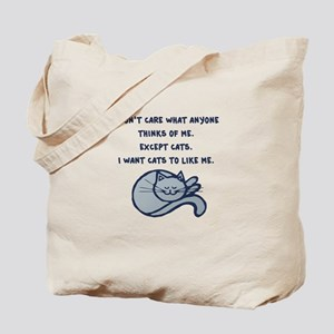 I want Cats to Like Me Tote Bag