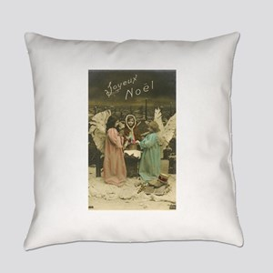French Christmas Angels Everyday Pillow