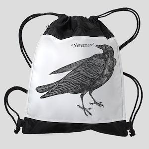 Nevermore Raven Drawstring Bag