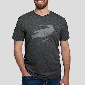 Grey Nevermore Raven Mens Tri-blend T-Shirt