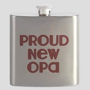 Proud New Opa-marroon Flask