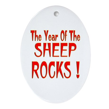 Year of the Sheep Oval Ornament