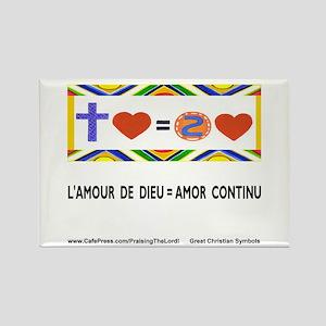 Francais: L'Amour de Dieu! Rectangle Magnet