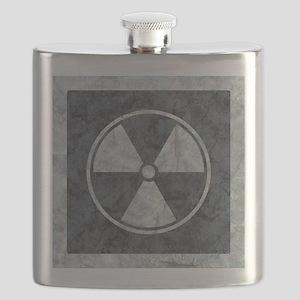 Distressed Gray Radiation Symbol Flask