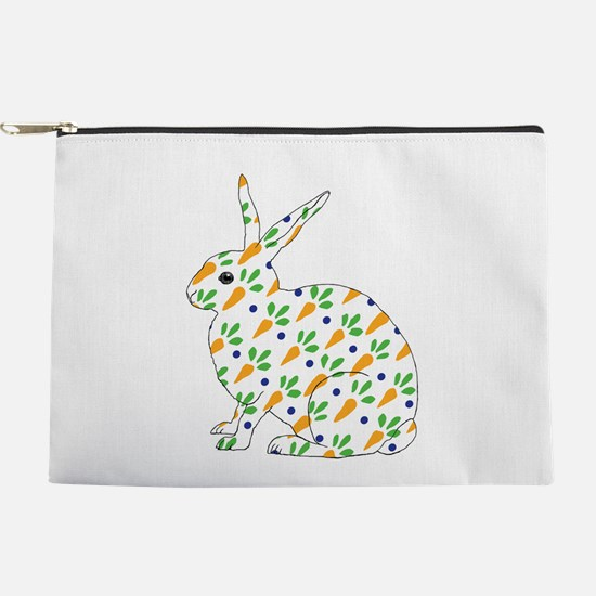 Carrot Calico Rabbit Makeup Pouch