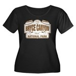 Bryce Canyon Women's Plus Size Scoop Neck Dark T-S