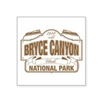 Bryce Canyon Square Sticker 3