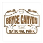 """Bryce Canyon Square Car Magnet 3"""" x 3"""""""
