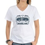 Bryce Canyon Blue Sign Women's V-Neck T-Shirt