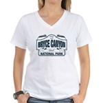 Bryce Canyon Blue Sign Women's V-Neck T-Shirt