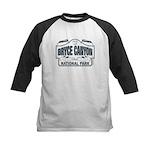 Bryce Canyon Blue Sign Kids Baseball Jersey