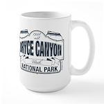 Bryce Canyon Blue Sign Large Mug