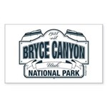 Bryce Canyon Blue Sign Sticker (Rectangle)
