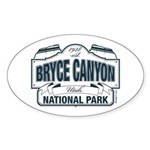 Bryce Canyon Blue Sign Sticker (Oval)