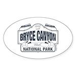 Bryce Canyon Blue Sign Sticker (Oval 10 pk)