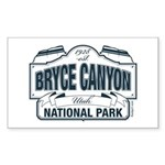 Bryce Canyon Blue Sign Sticker (Rectangle 10 pk)