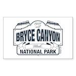 Bryce Canyon Blue Sign Sticker (Rectangle 10 pk)