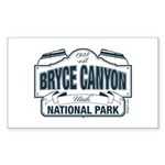 Bryce Canyon Blue Sign Sticker (Rectangle 50 pk)