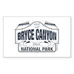 Bryce Canyon Blue Sign Sticker (Rectangle 50 pk)
