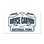 Bryce Canyon Blue Sign 20x12 Wall Decal