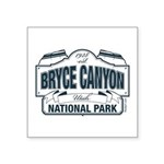 Bryce Canyon Blue Sign Square Sticker 3