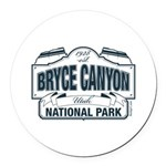 Bryce Canyon Blue Sign Round Car Magnet