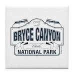 Bryce Canyon Blue Sign Tile Coaster