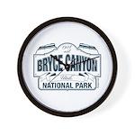 Bryce Canyon Blue Sign Wall Clock