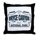 Bryce Canyon Blue Sign Throw Pillow