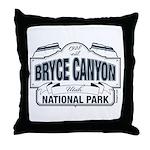 Bryce Canyon Blue Sign Throw Pillow