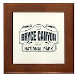 Bryce Canyon Blue Sign Framed Tile