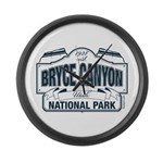 Bryce Canyon Blue Sign Large Wall Clock