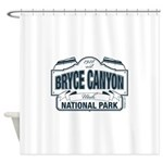 Bryce Canyon Blue Sign Shower Curtain