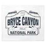 Bryce Canyon Blue Sign King Duvet