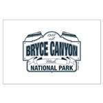 Bryce Canyon Blue Sign Large Poster