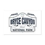 Bryce Canyon Blue Sign Mini Poster Print